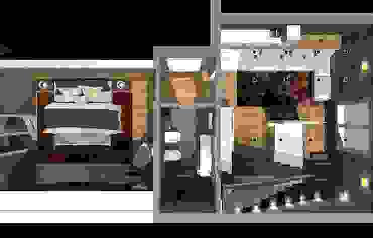 casa in Toscana Ingresso, Corridoio & Scale in stile moderno di Interior Design Stefano Bergami Moderno