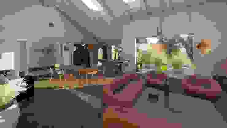 Scorcio del living Sala da pranzo moderna di Teresa Romeo Architetto Moderno Plastica