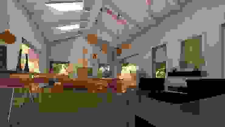 Scorcio del living sulla zona pranzo Sala da pranzo moderna di Teresa Romeo Architetto Moderno Plastica