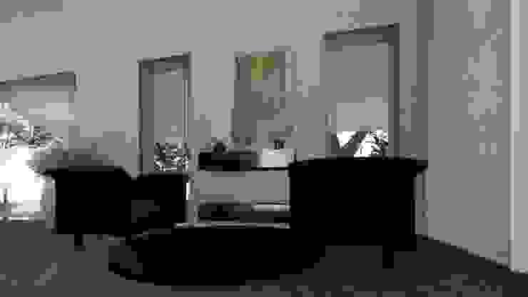 L'angolo lettura Studio moderno di Teresa Romeo Architetto Moderno Rame / Bronzo / Ottone
