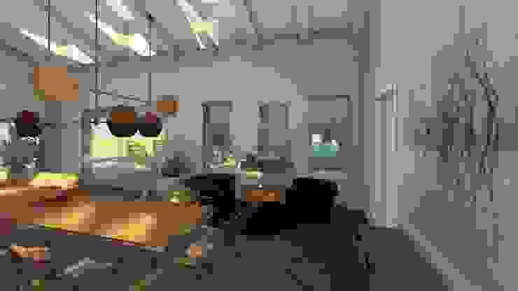 La zona pranzo Studio moderno di Teresa Romeo Architetto Moderno Metallo