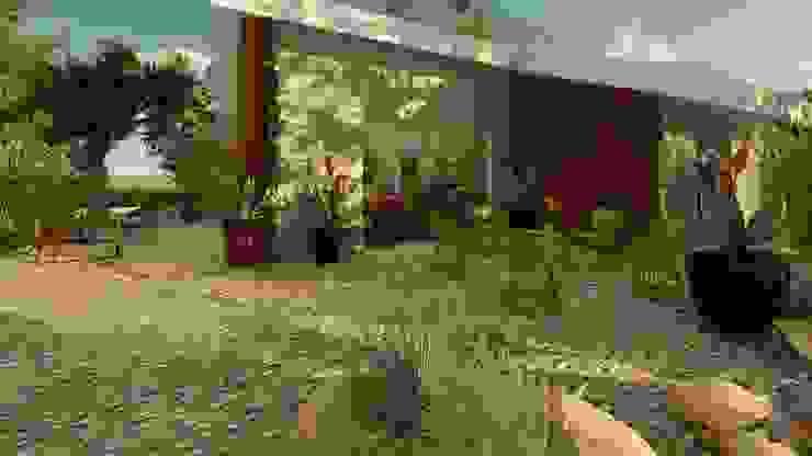 Vista dal giardino di Teresa Romeo Architetto Moderno Vetro