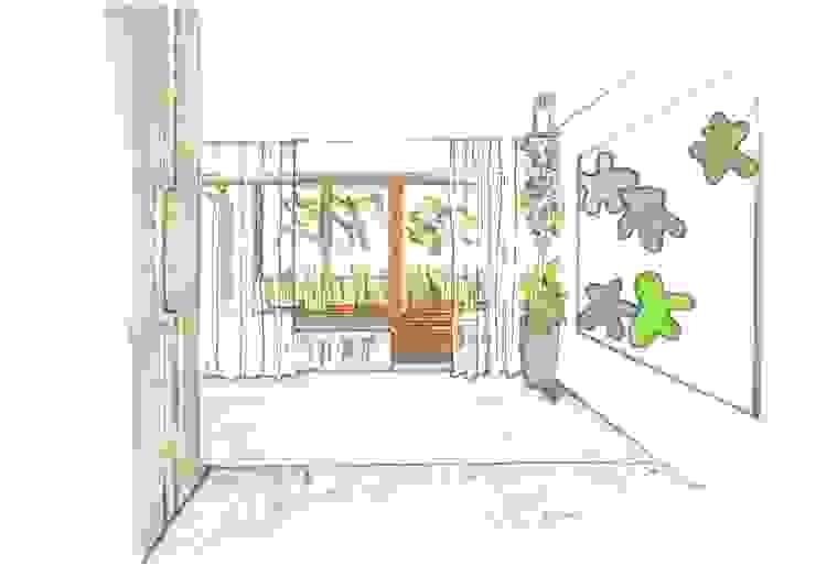 Flurbereich Obergeschoß Heike Schauz - Farbe & Feng Shui Klassischer Flur, Diele & Treppenhaus