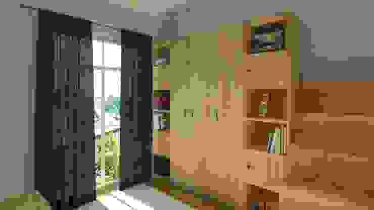 Dolap ve Kitaplık Tasarımı Yeşil Aks Mimarlık Modern Çocuk Odası Ahşap Ahşap rengi