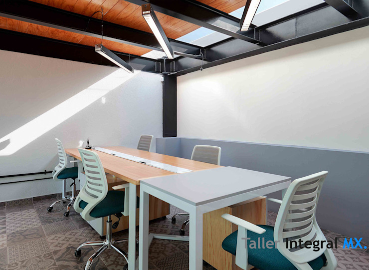 Taller Integral Mx Industrial style study/office Metal Grey