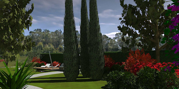 emotional garden Giardino moderno di Interior Design Stefano Bergami Moderno