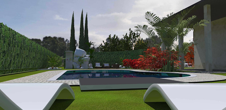 emotional garden Giardino minimalista di Interior Design Stefano Bergami Minimalista