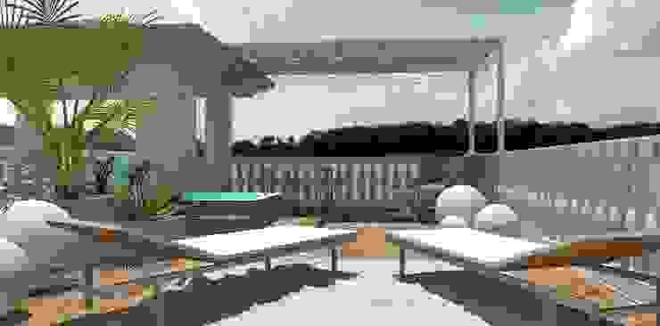 emotional garden Balcone, Veranda & Terrazza in stile eclettico di Interior Design Stefano Bergami Eclettico