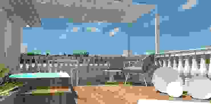 Interior Design Stefano Bergami Balcones y terrazas de estilo mediterráneo