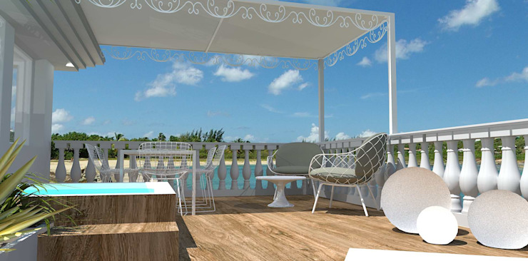 emotional garden Balcone, Veranda & Terrazza in stile mediterraneo di Interior Design Stefano Bergami Mediterraneo