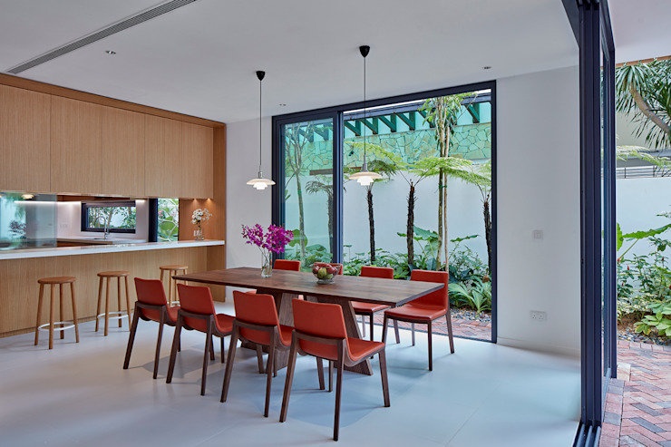 House at Sembawang Atelier M+A Modern dining room
