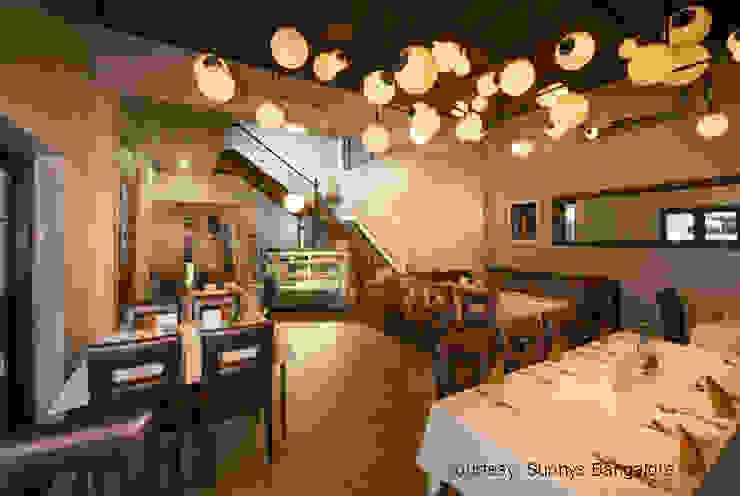 Restaurant interiors Tropical style gastronomy by studioPERCEPT Tropical