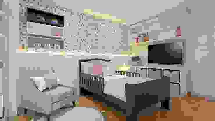 Diseño de Dormitorio para Niña - San Borja Katherine Quijano - Interiorismo Cuartos para niñas Madera Rosa