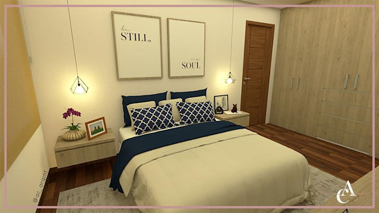 DISEÑO DORMITORIO PRINCIPAL ✨ Dormitorios de estilo ecléctico de Arisu Cavero - Arquitectura de Interiores Ecléctico