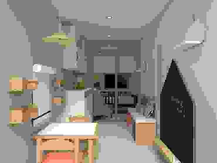 Diseño de Dormitorio para Niña – San Borja Katherine Quijano - Interiorismo Cuartos para niñas Madera Rosa