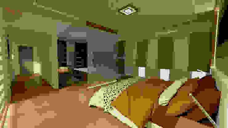 Aida tropeano& Asociados Modern style bedroom Engineered Wood Amber/Gold