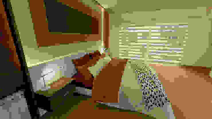 Dormitorio Aida tropeano& Asociados Cuartos de estilo moderno Madera Ámbar/Dorado