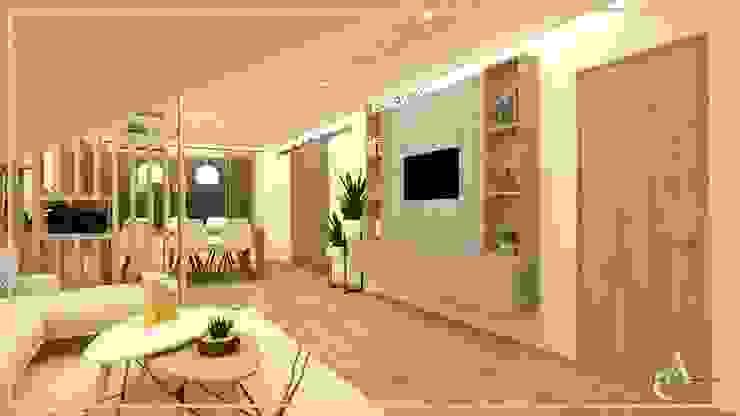 Arisu Cavero - Arquitectura de Interiores Soggiorno moderno