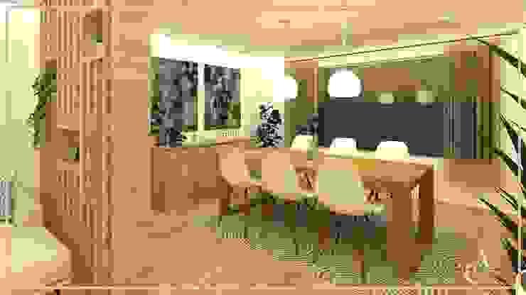 Arisu Cavero - Arquitectura de Interiores Sala da pranzo moderna