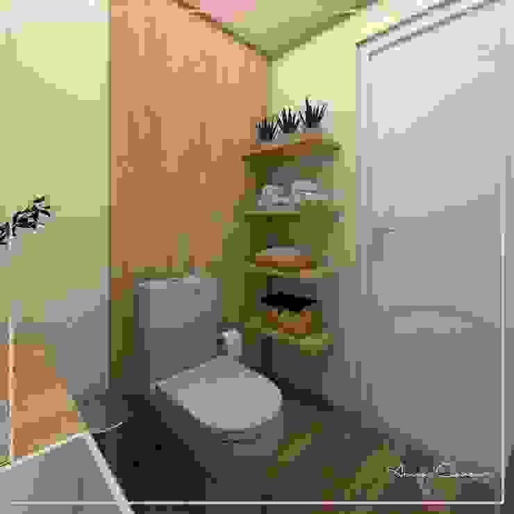 DISEÑO BAÑO DE VISITA ✨ Baños modernos de Arisu Cavero - Arquitectura de Interiores Moderno