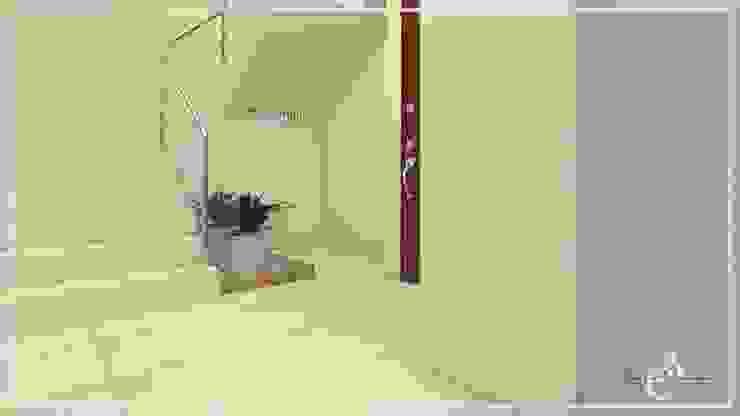 DISEÑO FACHADA – LOBBY ✨ Pasillos, vestíbulos y escaleras modernos de Arisu Cavero - Arquitectura de Interiores Moderno