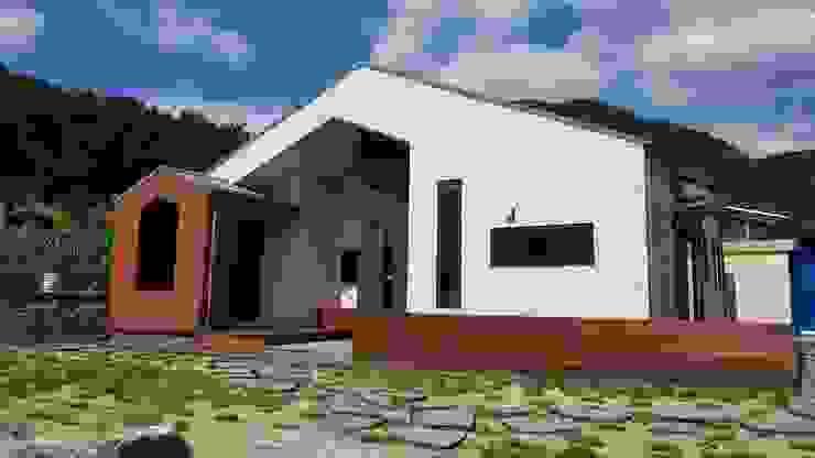 30평미만 주택디자인의 표준! <속리산주택> by 주택설계전문 디자인그룹 홈스타일토토 모던 타일