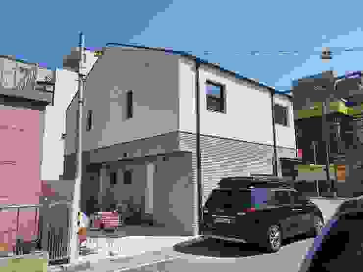강릉 포남동 상가주택 주택설계전문 디자인그룹 홈스타일토토 목조 주택 타일 멀티 컬러