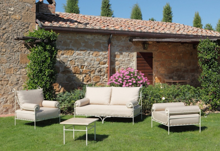 Outdoor sofas and armchairs VillaDorica Garden Furniture آئرن / اسٹیل Beige