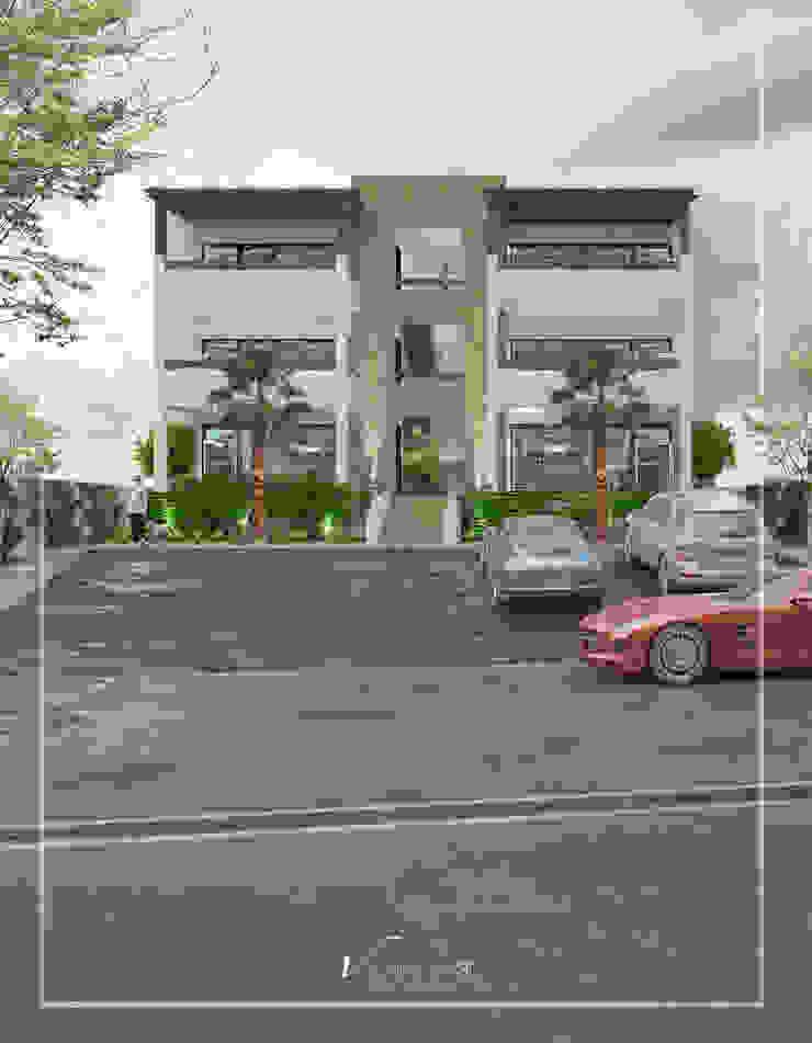 Visualización 3D Commercial Spaces Concrete White
