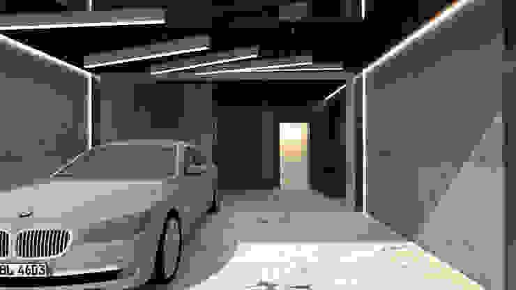 中壢海川蘊居家裝潢-1F車庫 根據 麗馨室內裝潢設計 LS interior design 現代風