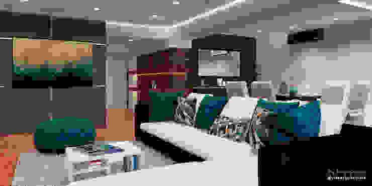 Proyecto de remodelación vivienda unifamiliar Res. El Limón Vida Arquitectura Modern Living Room Wood Grey