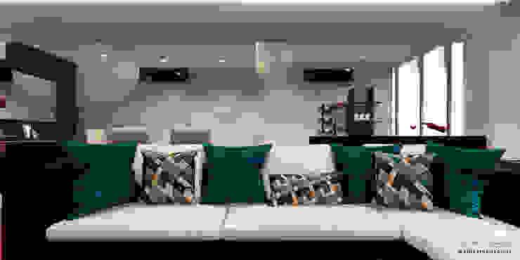 Proyecto de remodelación vivienda unifamiliar Res. El Limón Vida Arquitectura Multimedia roomFurniture Textile Turquoise