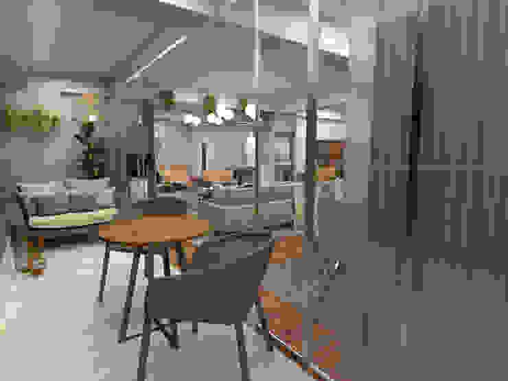 Proy. Casuarinas | Recibidor y sala KIARA NOVOA INTERIORISTA Salas modernas