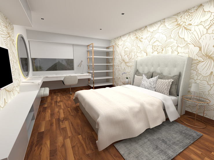 Proy. Cerros de Camacho | Dormitorio de KIARA NOVOA INTERIORISTA Moderno