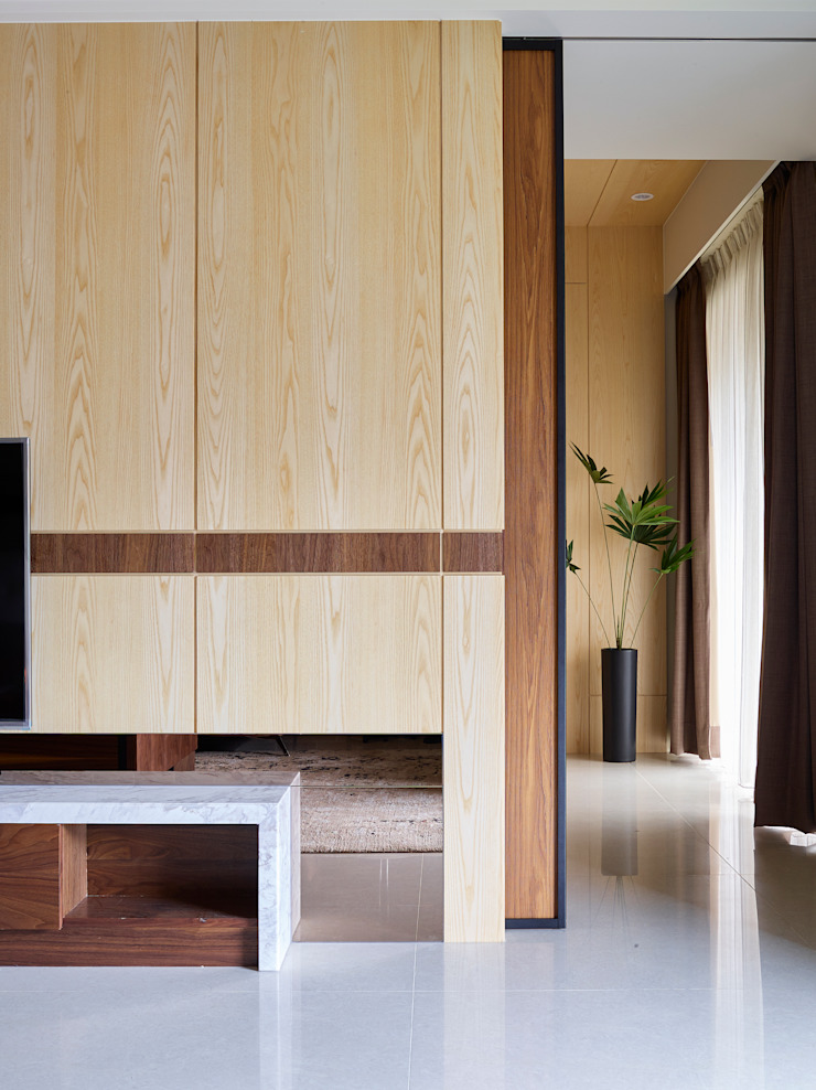 群築室內裝修設計有限公司 Eclectic style walls & floors