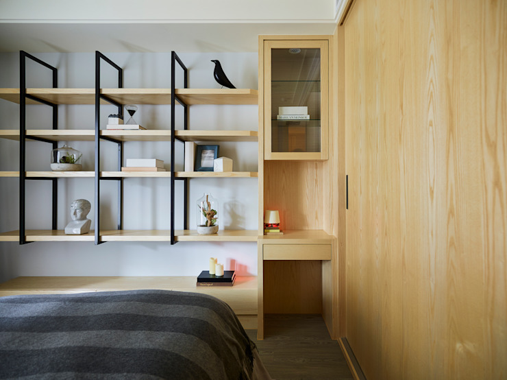 群築室內裝修設計有限公司 Eclectic style bedroom