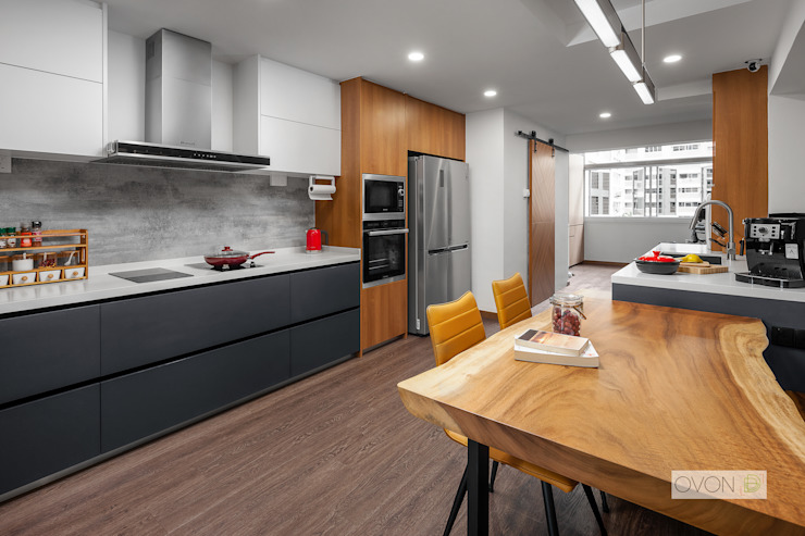 Bishan Modern kitchen by Ovon Design Modern