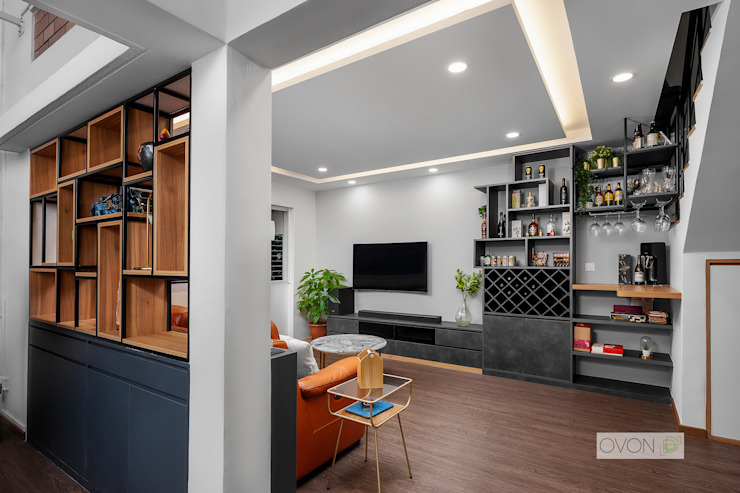 Bishan Modern living room by Ovon Design Modern