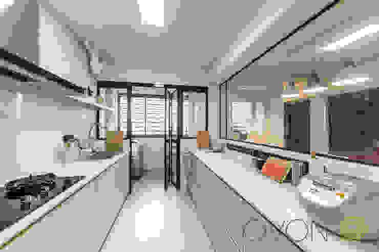 Tampines GreenRidges Minimalist kitchen by Ovon Design Minimalist