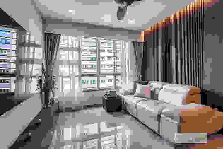 Telok Blangah Ovon Design Modern living room