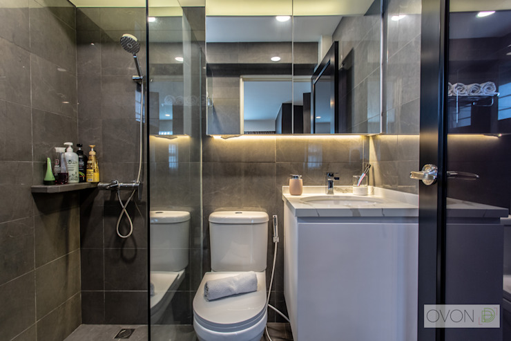 Telok Blangah Ovon Design Modern bathroom