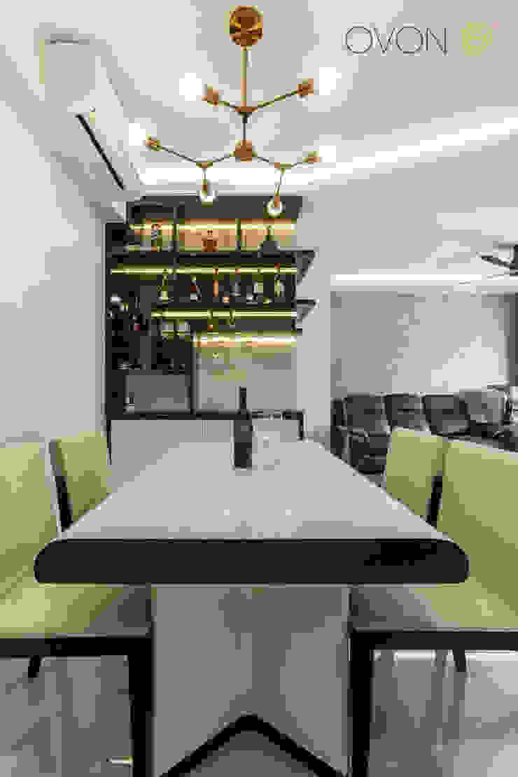 Anchorvale Treasure Crest Modern dining room by Ovon Design Modern