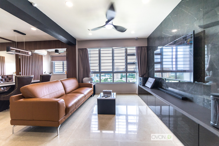 Toa Payoh Rise Modern living room by Ovon Design Modern