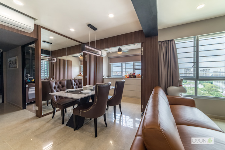 Toa Payoh Rise Ovon Design Modern dining room