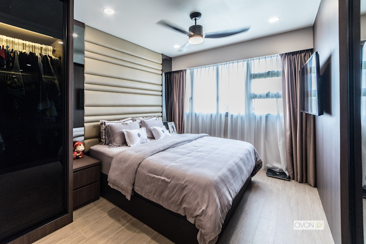 Toa Payoh Rise Ovon Design Modern style bedroom