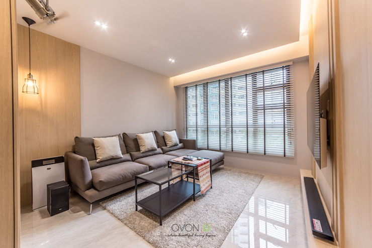 Fernvale Link Modern living room by Ovon Design Modern