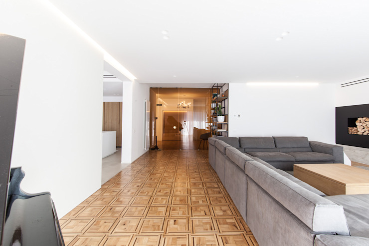 Didonè Comacchio Architects Minimalistische Wohnzimmer
