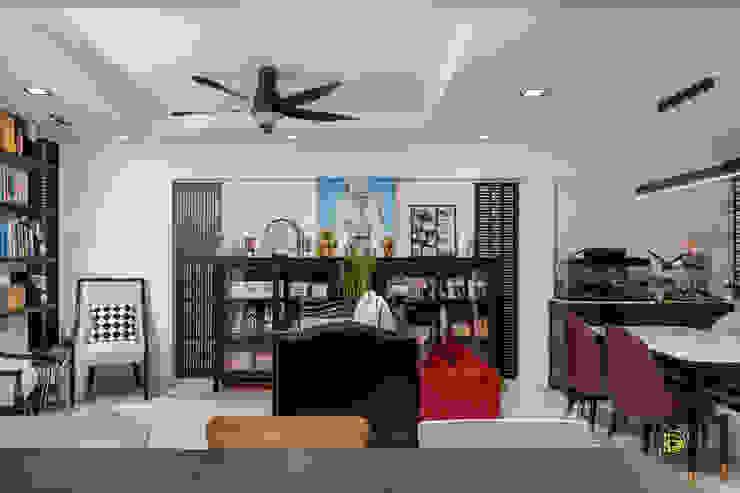 Serangoon North Ovon Design Eclectic style living room