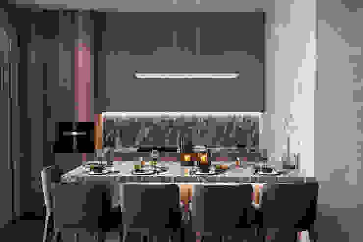 Квартира 110 кв. м. в современном стиле ЖК Red Side. Гостиная в стиле минимализм от Студия архитектуры и дизайна Дарьи Ельниковой Минимализм