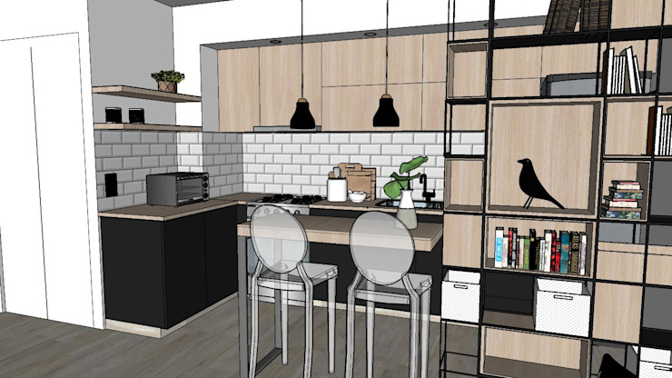 NB INTERIORES Built-in kitchens Wood Black